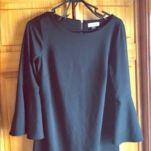 Little black dress with Bell sleeves